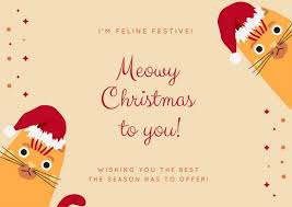 red cat funny christmas card templates by canva