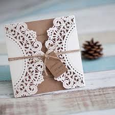 wedding invitations affordable inexpensive rustic laser cut wedding invitation with tag ewws040