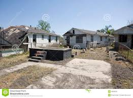 home off foundation ninth ward new orleans stock photo image