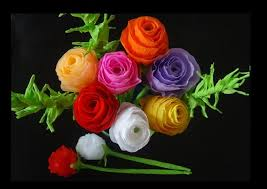 how to make paper flowers rose bouquet for valentine u0027s day youtube