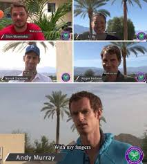 Andy Murray Meme - when tennis players were asked how they eat their strawberries
