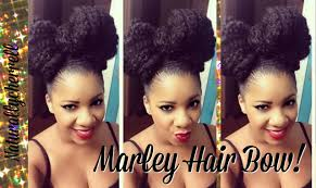 marley hairstyles tutorial bow hairstyle using marley braiding hair youtube