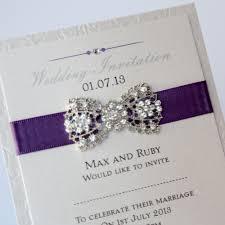 art deco flat invitation purple with vintage bow brooch vintage