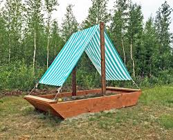 How To Build A Tent by Ana White Sail Boat Or Ship Sandbox Diy Projects