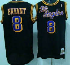 los angeles lakers jersey 8 kobe bryant 1996 97 black hardwood