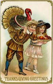 vintage thanksgiving postcard image design shop