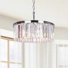 Crystal And Chrome Chandelier Glass Prisms For Chandeliers With Justina 5 Light Chrome