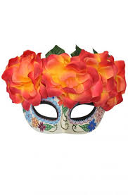 Day Of The Dead Mask Fiery Passion Day Of The Dead Mask Purecostumes Com
