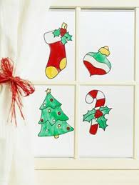 Christmas Window Cling Decorations by Christmas Window Clings Instructions Recipe Window Craft And