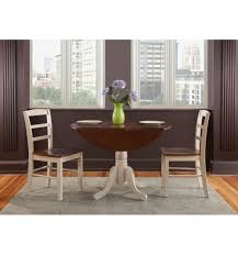 Drop Leaf Dining Room Table 42 Inch Round Dropleaf Dining Tables Simply Woods Furniture