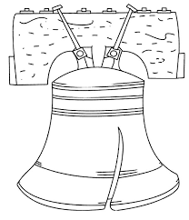 symbol american independence liberty bell coloring pages