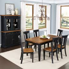 black dining table and hutch gavelston 8pc dining room table home styles black and oak americana 7pc dining set w buffet and hutch