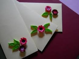 How To Make Easy Paper Flowers For Cards - simple flower and leaf quilling without a quilling tool 4 steps