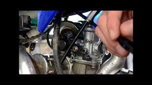 125cc pit bike carby service youtube