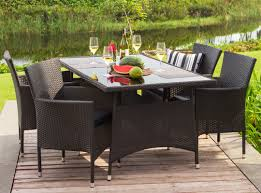 kubus table 4 kenzo chairs patio dining set