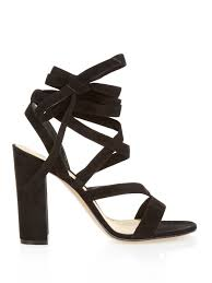 gianvito rossi janis suede sandals in black lyst