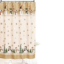 Bath And Beyond Shower Curtains Heartland Snowman 70 Inch X 70 Inch Shower Curtain And Hook Set