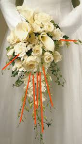 how to make bridal bouquets calla and cascade wedding bouquet tutorials