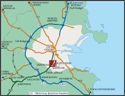 Map Of Dublin Ireland Central Dublin Ireland Highway Map Dublin Ireland U2022 Mappery