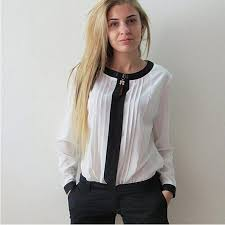black and white blouses chiffon blouse for shirts black white sleeve formal