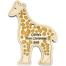 baby s ornament giraffe personalized handmade
