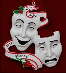 the theater personalized ornaments by