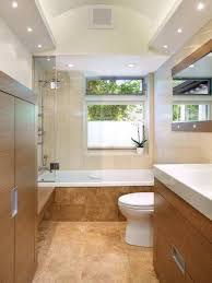 narrow small bathroom light fixtures with recessed lighting