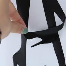 beauty women silhouette manicure salon nail polish wall