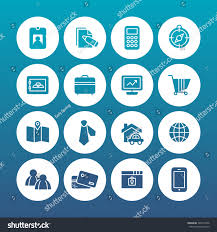 Maps For Business Cards Set Vector Icon Graphic Business Finance Stock Vector 346515026