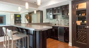 Wondrous Brown Wooden Kitchen Cabinetry by Bar Kitchen Inspiring Image Of Small L Shape Kitchen Decoration