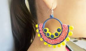 paper ear rings how to make beehive quilling paper earrings quilling made easy