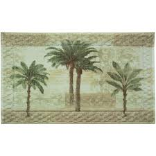 Palm Tree Bathroom Rug Citrus Palm Bath Rug