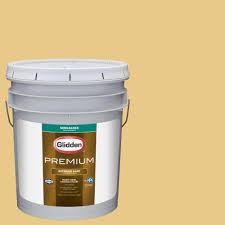 glidden premium 5 gal hdgy46 vintage yellow semi gloss latex