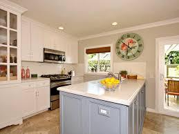 blue kitchen island white cottage kitchen with pastel blue island