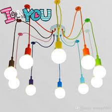 multi colored hanging lights colorful pendant l 10 heads multi colored silicone e27 art