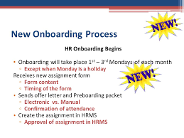 Assignment Form Human Resources New Onboarding Process Claudia White Ppt Download