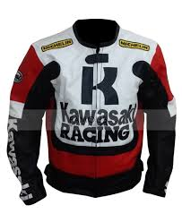motorcycle racing jacket buy online kawasaki ninja red black motorcycle racing leather