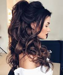 12 wedding day killer hairstyles for curly hair partial updo