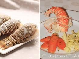 cuisiner queue de langoustes crues surgel馥s langouste au court bouillon tout le monde à table