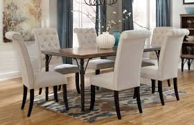 Dining Room Tables Rustic Dining Room Tables With Upholstered Chairs Ivy Park 7 Piece
