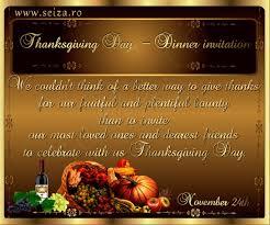 tarjeta de invitación para celebrar el día de acción de gracias
