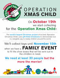 operation christmas child family gift boxing event holman community