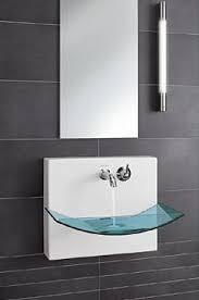 wall mount glass sink liaison glass basin from villeroy boch