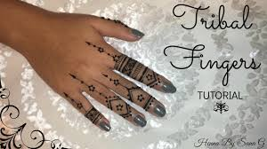 Finger Tribal - tribal fingers henna by sana g