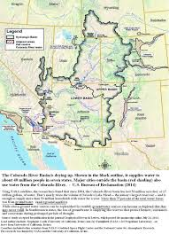 Underground River Map Colorado River Basin Including Underground Aquifers Drying Up