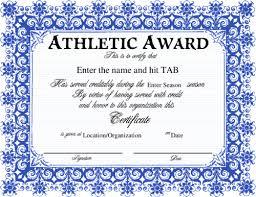sports award certificates templates radiodigital co