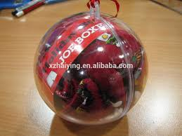 hollow clear plastic acrylic fillable ornament for