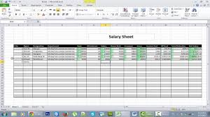 How To Do Excel Spreadsheets Salary Sheet In Ms Excel Advanced Training Of Ms Excel Video