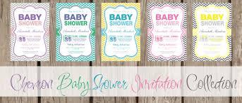 free printable chevron baby shower invitations iidaemilia