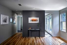love the wood floor and the dark grey wall unsure on painting the